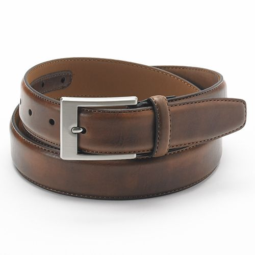 Big & Tall Croft & Barrow® Stitched Soft-Touch Leather Belt