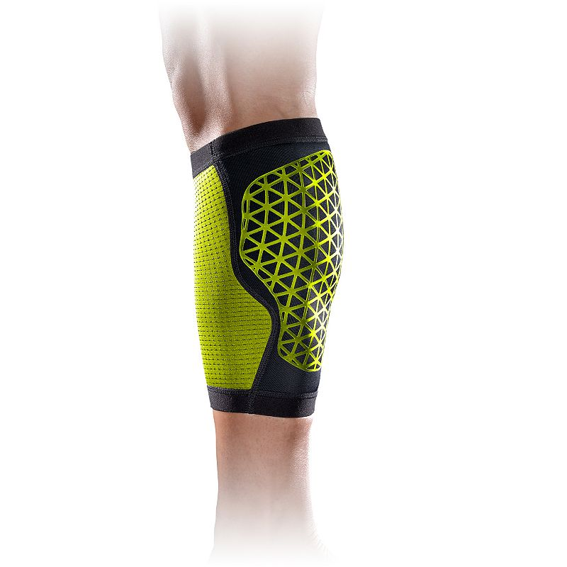 Adult Nike Calf Sleeve, Black Breathable mesh insets Contoured design Elastic binding with silicone grip Abrasion-resistant design Fit & Sizing Small = 7.5''-8.5'' around calf Medium = 8.5''-9'' around calf Large = 9''-10.5'' around calf X-Large = 10.5''-12  around calf Fabric & Care Nylon/polyester/ TPE/silicone/spandex Imported Size: XS. Color: Black. Gender: Unisex. Age Group: Adult. Material: Silicone/Polyester/Nylon.