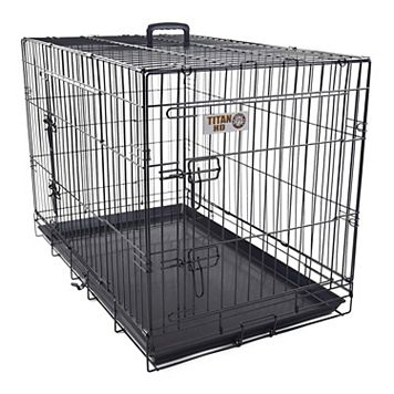 Majestic Pet 24-in. Double Door Folding Pet Crate