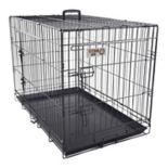 Majestic Pet 30-in. Double Door Folding Pet Crate
