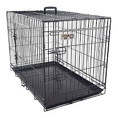 Majestic Pet 42 in Double Door Folding Pet Crate
