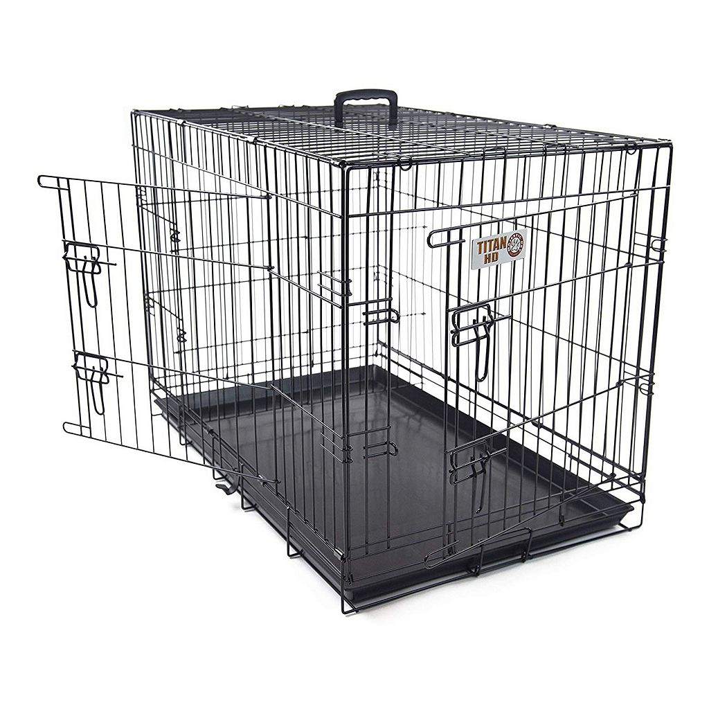 Majestic Pet 42-in. Double Door Folding Pet Crate