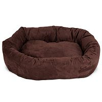 Majestic Pet Microsuede Bagel Pet Bed - 32'' x 23''