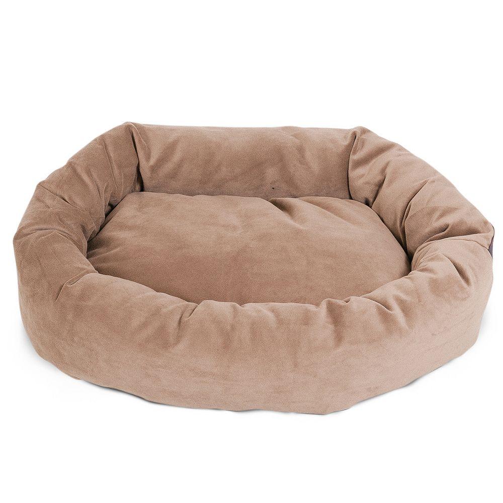 Majestic Pet Microsuede Bagel Pet Bed - 40'' x 29''