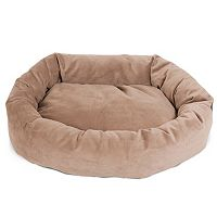 Majestic Pet Microsuede Bagel Pet Bed - 40'' x 29''