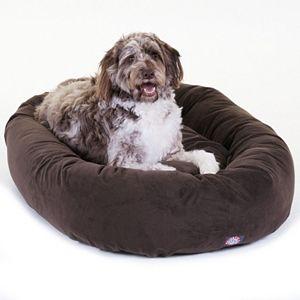 Majestic Pet Microsuede Bagel Pet Bed - 52'' x 35''