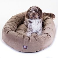 Majestic Pet Microsuede Bagel Pet Bed - 52'' x 35''