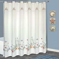 Seashell Fabric Shower Curtain