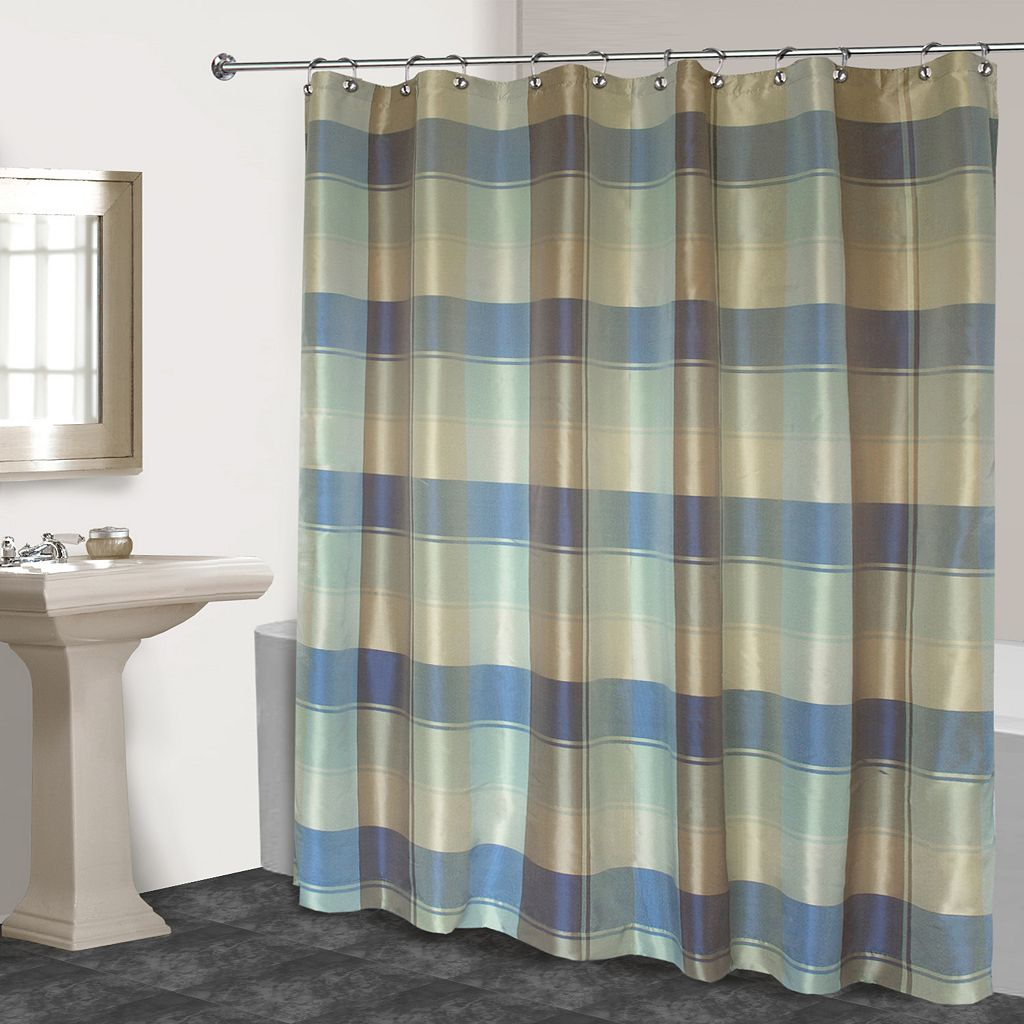 Plaid Fabric Shower Curtain