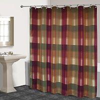 Plaid Fabric Shower Curtain