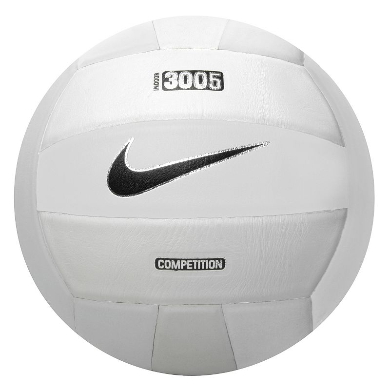 Nike 3005 Nfhs Volleyball, White : Professional grade 18-panel flat-seam laminated construction Floating-bladderdesign Indoor : Rubber/nylon/full-grain leather Size: Onesize. Color: White. Gender: Male. Age Group: Adult. Material: Rubber/Fullgrain Leather/Nylon.