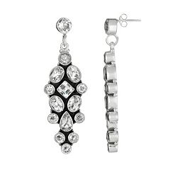 Sterling Silver Crystal Quartz Drop Earrings