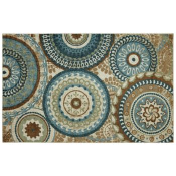 Mohawk Home Alexa Medallion Indoor Outdoor Rug 5 x 8