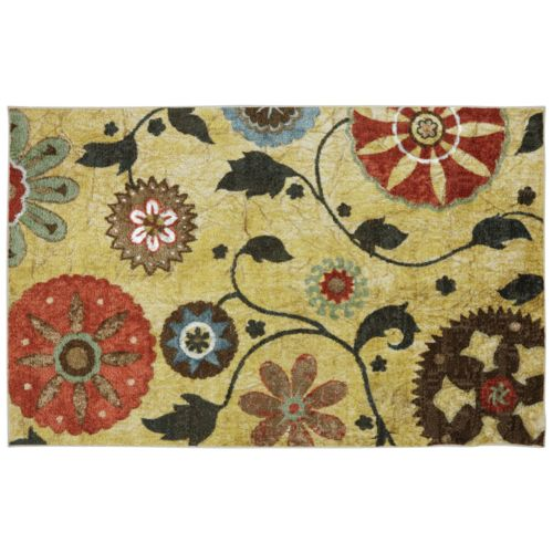 Mohawk Home Bella Garden Floral Indoor Outdoor Rug