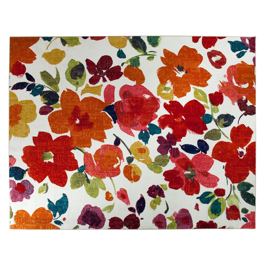 Mohawk® Home Bright Floral Toss Indoor Outdoor Rug - 5' x 8'