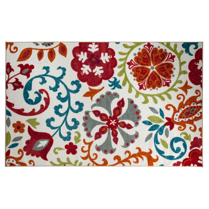Colorful Floral Outdoor Rug