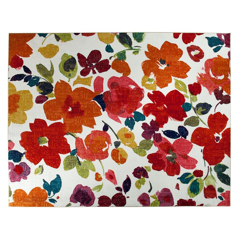 8x10 indoor area rug kohl 39 s for Bright floral area rugs