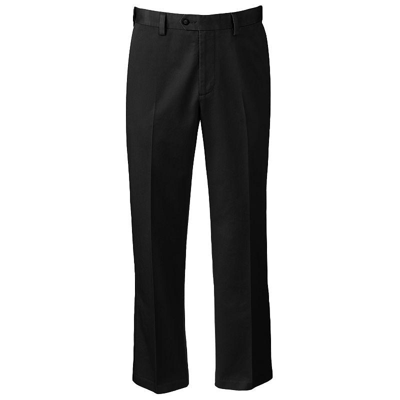 Croft & Barrow Classic-Fit No-Iron Flat-Front Pants - Men