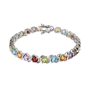 Sterling Silver Gemstone Bracelet