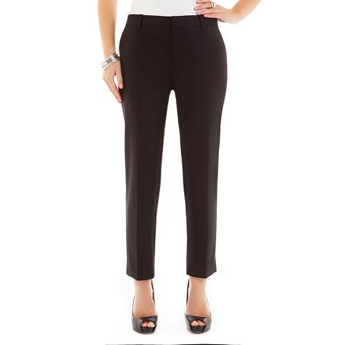 daisy fuentes® Favorite Slim Ankle Pants - Women's