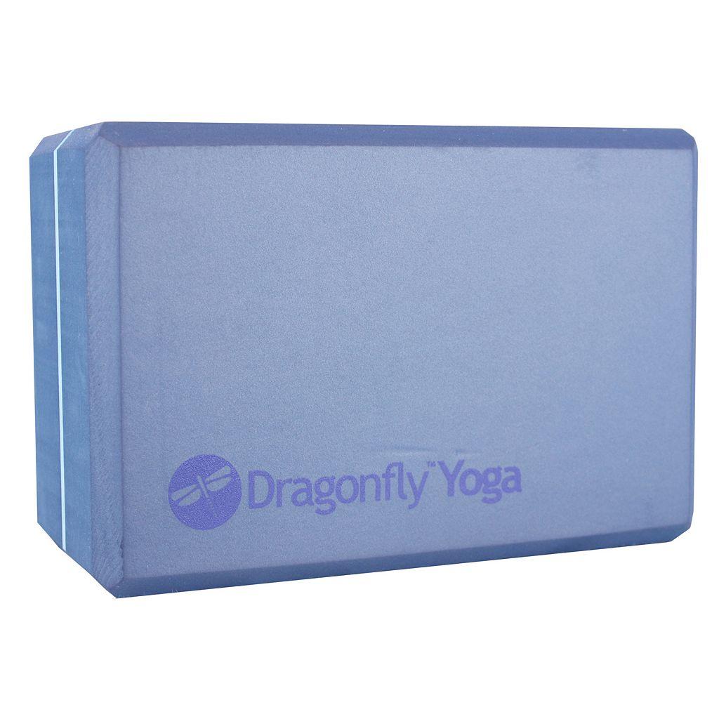 Dragonfly 4-in. Premium Striped Foam Yoga Block