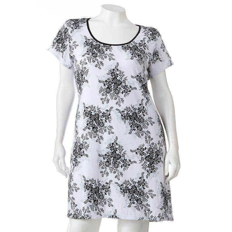 Jockey Clarissa Garden Floral Sleep Shirt - Women's Plus