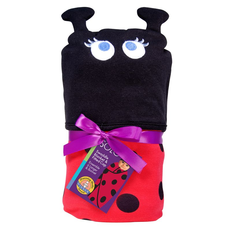 Sozo Swaddle Blanket and Cap Set in Snuggle Bug 94773757
