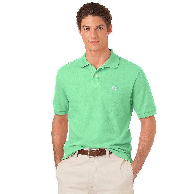 Chaps Custom-Fit Solid Pique Polo - Men