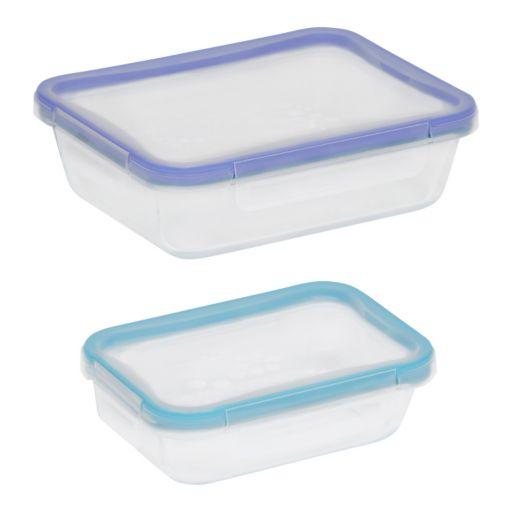 Snapware Total Solution Pyrex 4-pc. Rectangular Food Storage Set