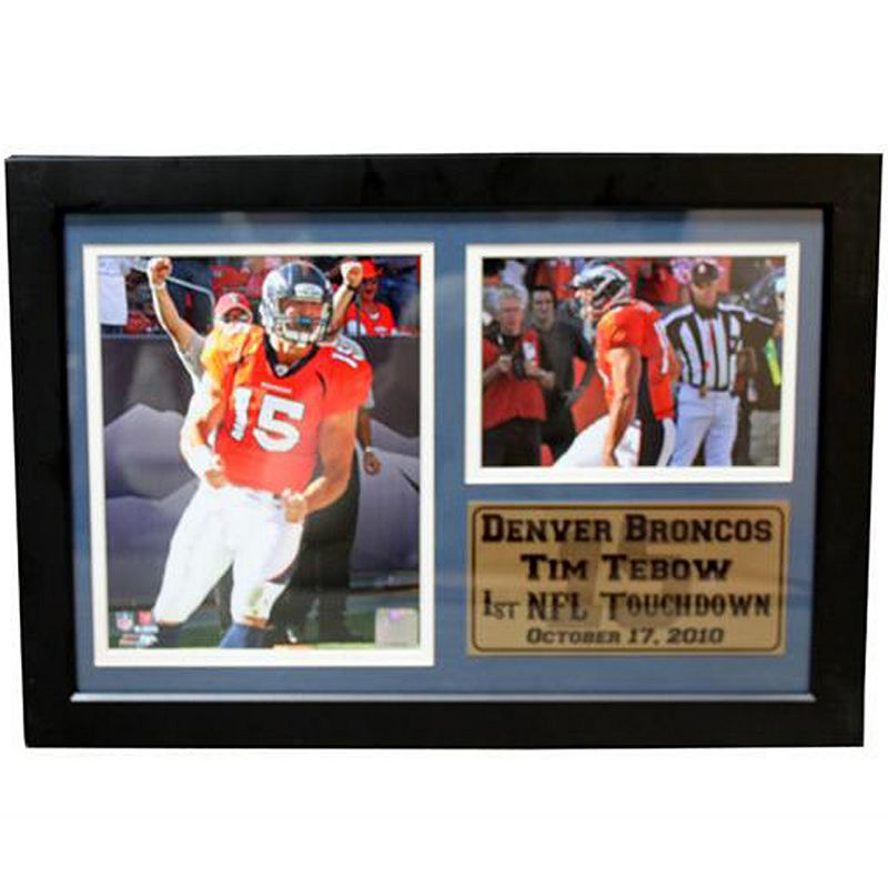 Denver Broncos Tim Tebow Photo Stat Frame