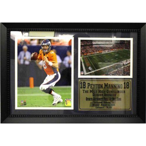 Denver Broncos Peyton Manning Photo Stat Frame