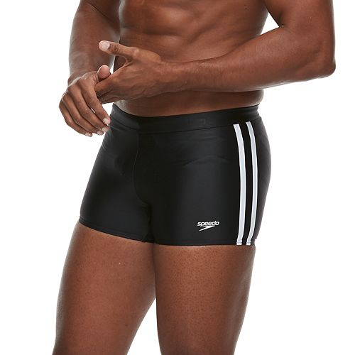 44eeb7454b Speedo Shoreline Square Leg Side-Striped Athletic Swim Shorts - Men