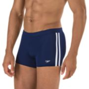 Speedo Shoreline Square Leg Side-Striped Athletic Swim Shorts - Men