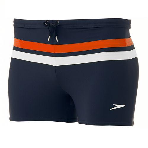 726485e5c2 Speedo Striped Square Leg Athletic Swim Shorts - Men