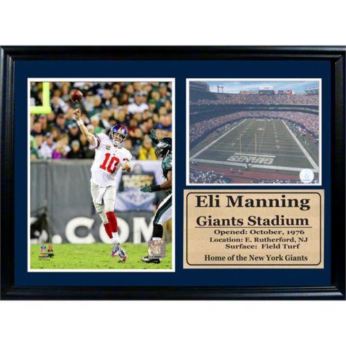 New York Giants Eli Manning Photo Stat Frame