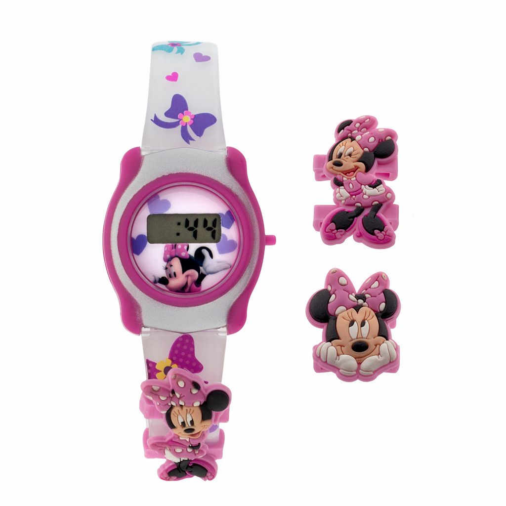 Disney's Minnie Mouse Kids' Digital Watch & Charm Set