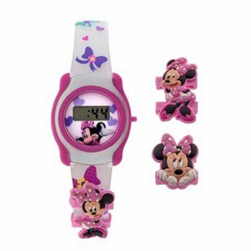 Disney's Minnie Mouse Kids' Digital Watch & Charm Set