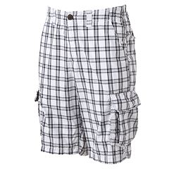 Big & Tall Urban Pipeline™ Checked Pattern Cargo Shorts