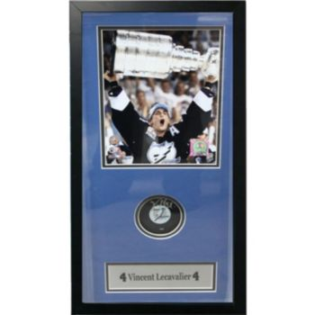 Tampa Bay Lightning Vincent Lecavalier Shadow Box with Autographed Puck