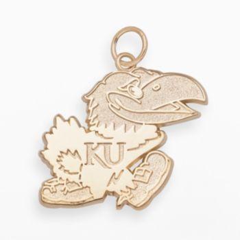 LogoArt Kansas Jayhawks 14k Gold Logo Charm