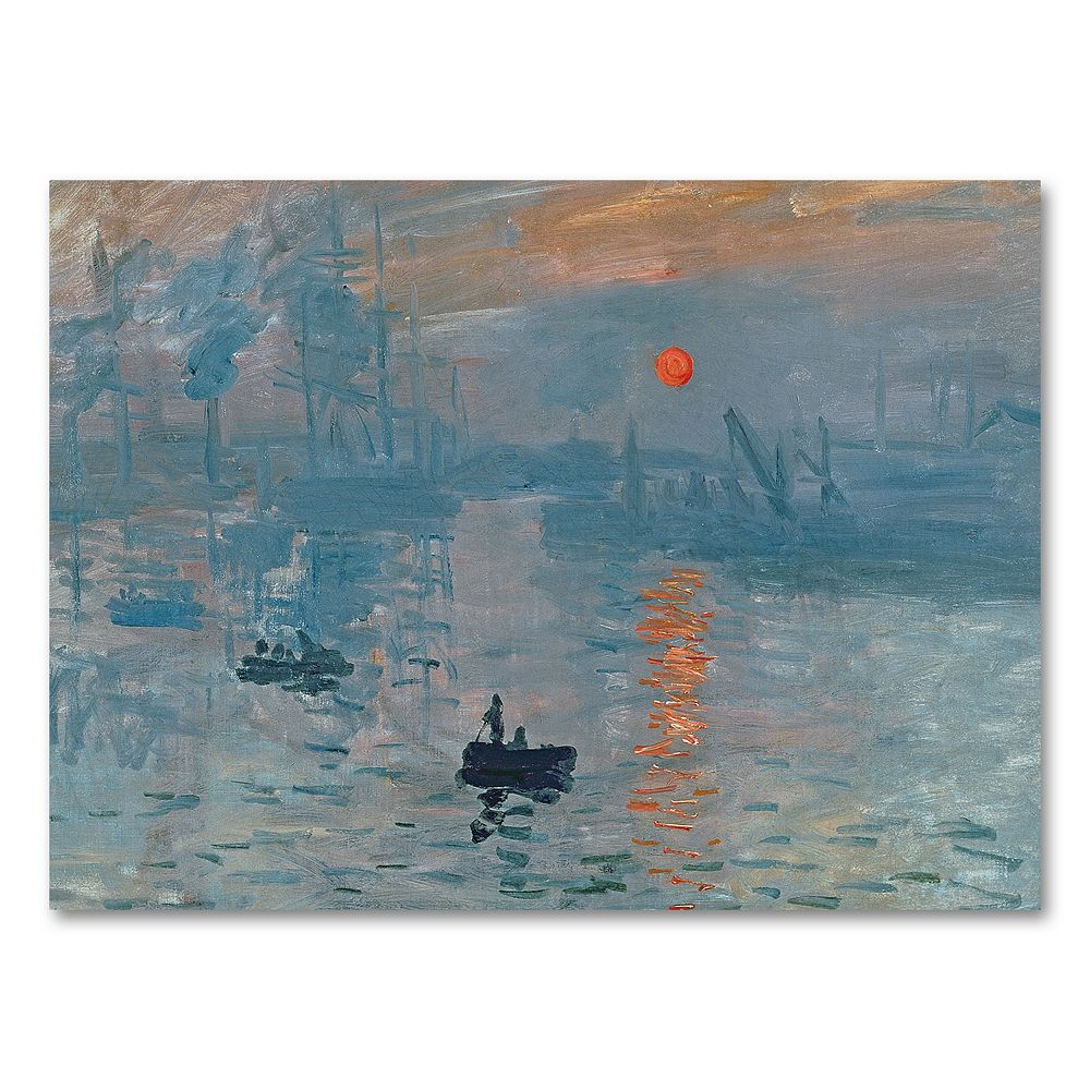 18'' x 24 ''Impression Sunrise'' Canvas Wall Art by Claude Monet