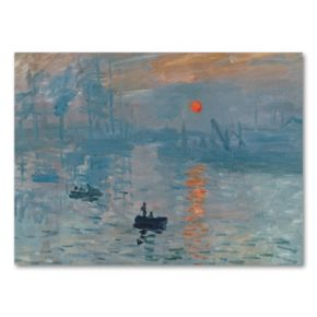 18 x 24 Impression Sunrise Canvas Wall Art by Claude Monet