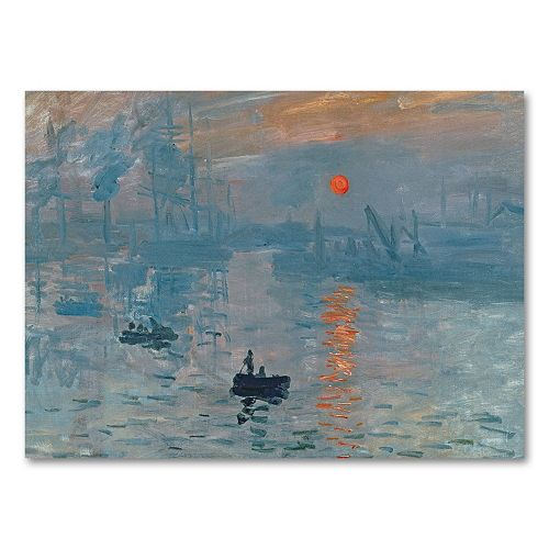 35'' x 47'' ''Impression Sunrise'' Canvas Wall Art by Claude Monet