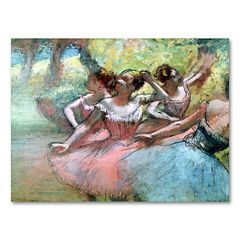 18'' x 24'' ''Four Ballerinas on the Stage'' Canvas Wall Art by Edgar Degas