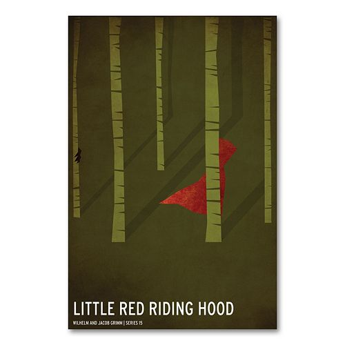 47'' x 30'' ''Little Red Riding Hood'' Canvas Wall Art by Christian Jackson