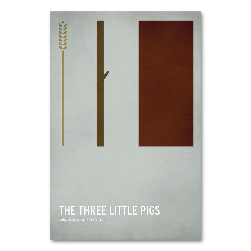 47'' x 30'' ''The Three Little Pigs'' Canvas Wall Art by Christian Jackson