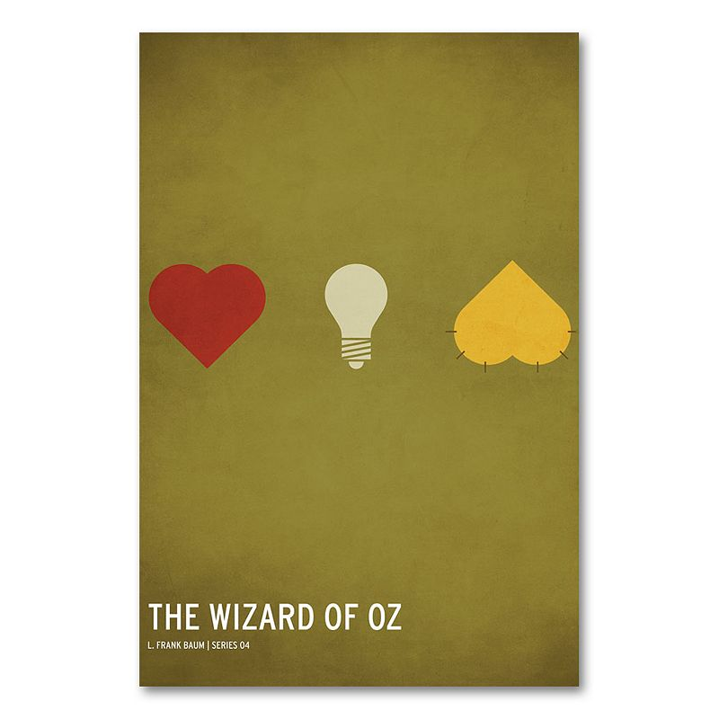 "32"" x 22"" ""The Wizard of Oz"" Canvas Wall Art by Christian Jackson, Green"
