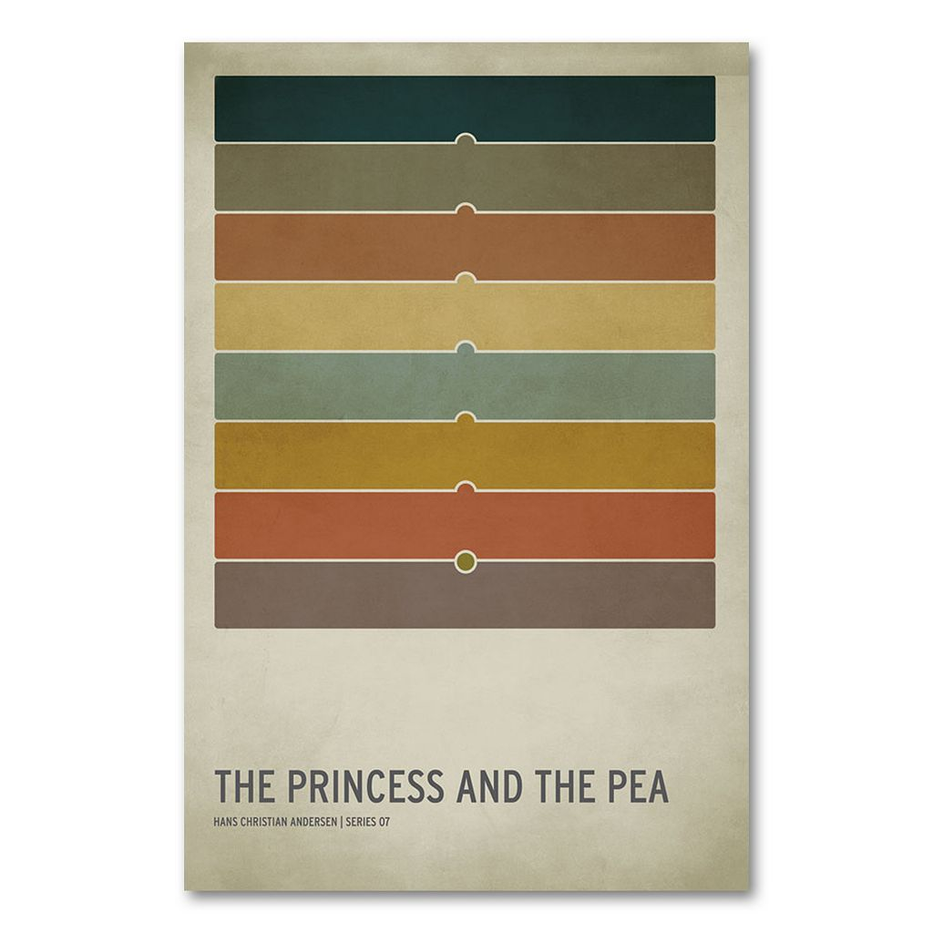 32'' x 22'' ''The Princess and the Pea'' Canvas Wall Art by Christian Jackson