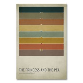 32 x 22 The Princess and the Pea Canvas Wall Art by Christian Jackson