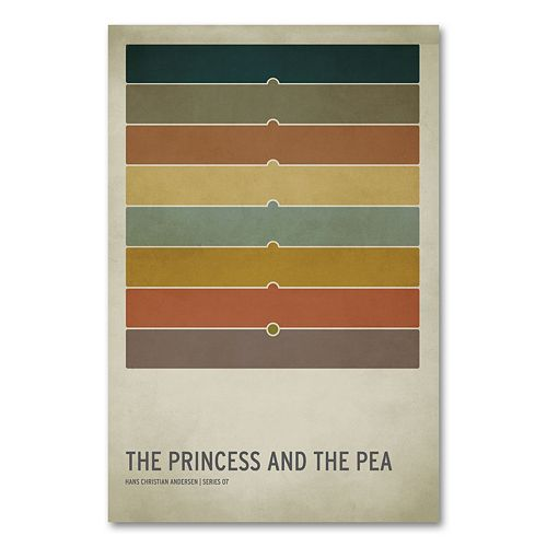 47'' x 30'' ''The Princess and the Pea'' Canvas Wall Art by Christian Jackson